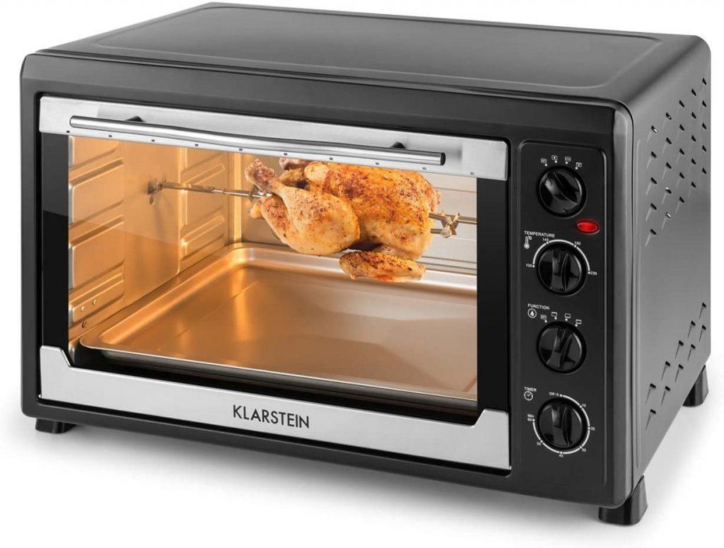Horno Klarstein Masterchef 60 L. Válido para pequeñas familias, gran capacidad y potencia 2500